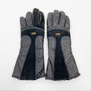 Vintage Tour Master Leather Suede Motorcycle Gloves XL Mens Harley